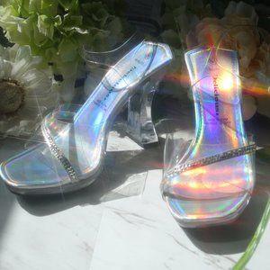Cinderella Funkytown Strappy Heels